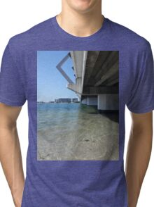 Calm Bridge Water Tri-blend T-Shirt