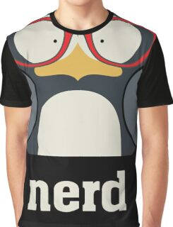 Nerd - Penguin with Geek Glasses - Funny Humor  Graphic T-Shirt