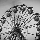 Black and White Ferris Wheel by WeeZie