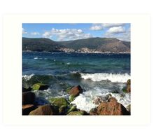 View From O Pindo, Spain Art Print