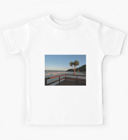 Boardwalk with a Tree with a View Kids Tee