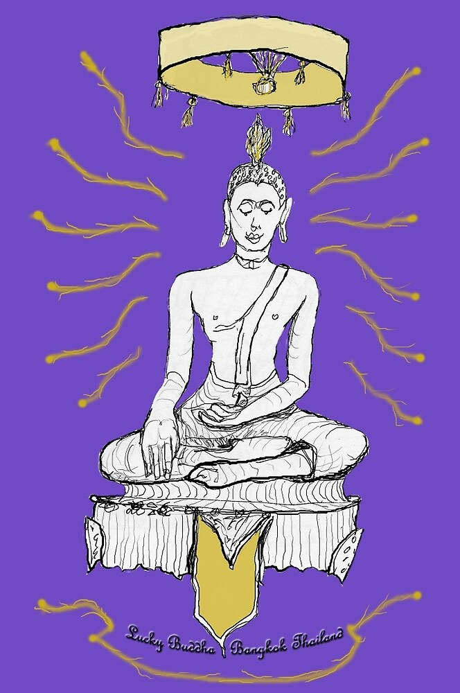 Thailand - Lucky Buddha Temple by James Lewis Hamilton