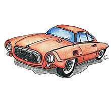 Red Classic CAR 01 Photographic Print