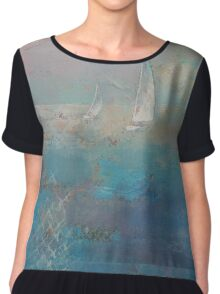 Sailboats Chiffon Top