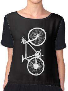 bicycle  white Chiffon Top
