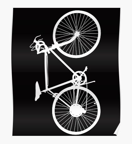 bicycle  white Poster