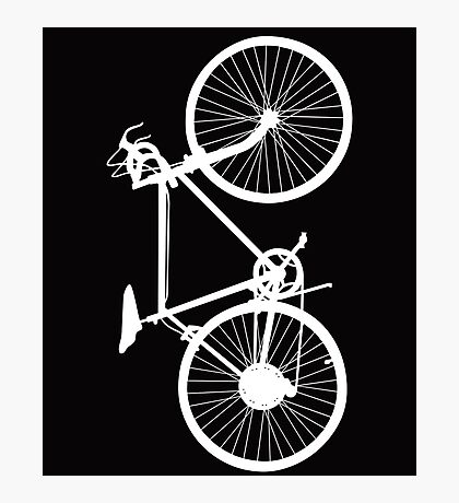 bicycle  white Photographic Print