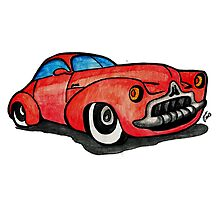Red Classic CAR 02 Photographic Print