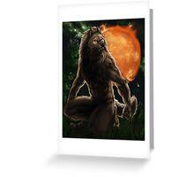 Werewolf Zodiac - Leo Greeting Card