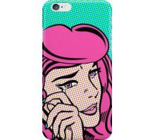 Sad Girl - Pink iPhone Case/Skin