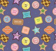 Alice In Wonderland Eat Me Cookies In Grape by jaymelafleur