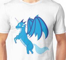 Blue Unicorn Dragon Unisex T-Shirt