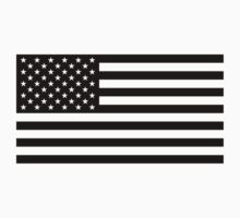 U.S. Flag: Black & White Kids Tee
