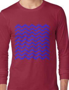 Purple Chevron Lines Long Sleeve T-Shirt
