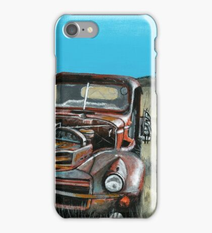 Old Truck - Acrylic on Canvas iPhone Case/Skin
