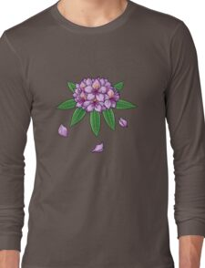 Rhododendron ponticum (No Text) Long Sleeve T-Shirt