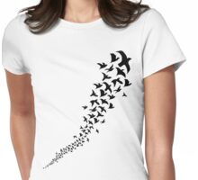 Take Flight in Black Womens Fitted T-Shirt