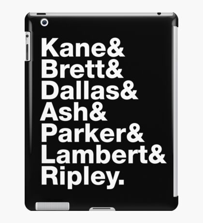 Alien Nostromo Crew Order - white text variant iPad Case/Skin