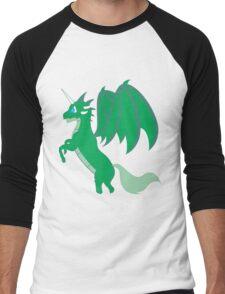Green Unicorn Dragon Men's Baseball ¾ T-Shirt