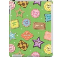 Alice In Wonderland Eat Me Cookies In Honeydew iPad Case/Skin