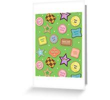 Alice In Wonderland Eat Me Cookies In Honeydew Greeting Card