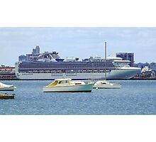 Princess Cruises at South Melbourne Photographic Print