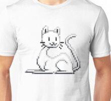 Pixel White Cat Unisex T-Shirt