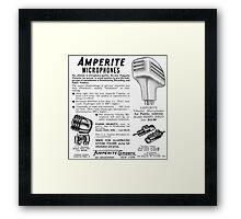 Amperite Microphones vintage ad Framed Print