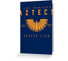 Aztecs Soccer Greeting Card
