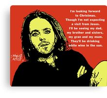 Tim Minchin Christmas Canvas Print
