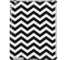 Black Chevron Lines iPad Case/Skin