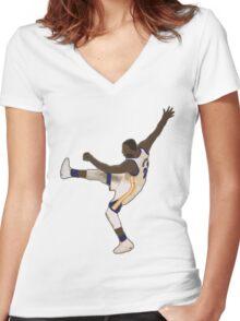 Draymond Green Kick Women's Fitted V-Neck T-Shirt
