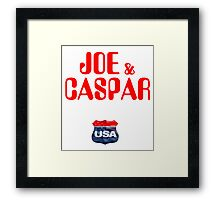 JOE & CASPER HIT THE ROAD 2016 Framed Print
