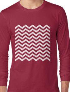 White Chevron Lines Long Sleeve T-Shirt