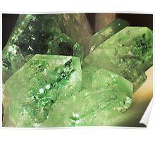 Green Glitter (Apophyllite) Poster