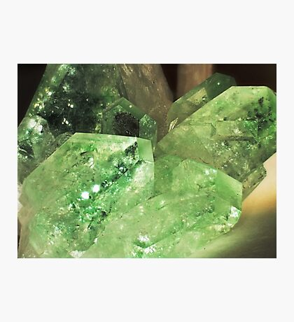 Green Glitter (Apophyllite) Photographic Print