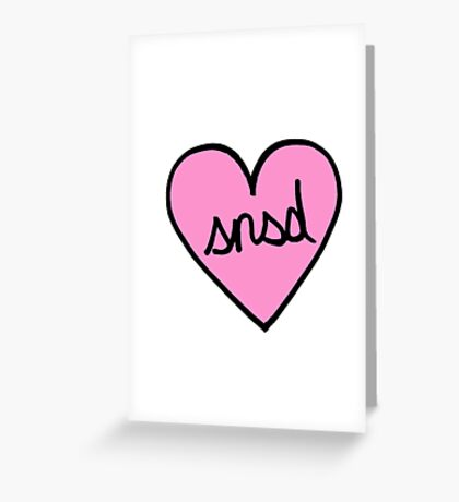 SNSD Heart Patch kpop Greeting Card