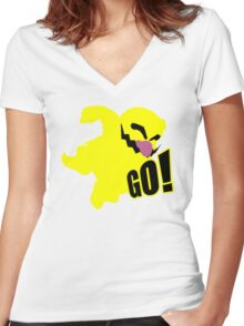 Wario GO Women's Fitted V-Neck T-Shirt
