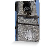 old steeple of the church Greeting Card