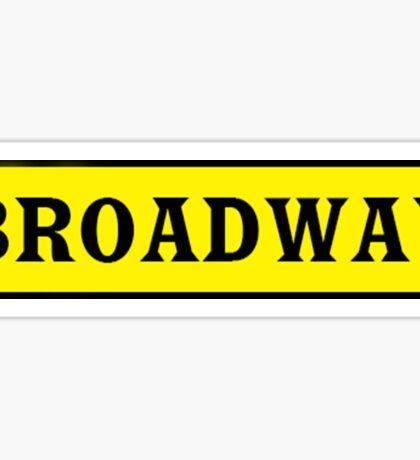 Broadway Sticker