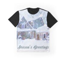 Home in Winter Snow Graphic T-Shirt