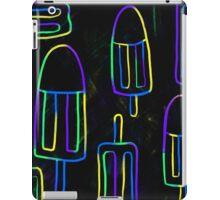Neon Popsicles on blue n black iPad Case/Skin