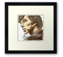 Sherlock Sketch With Colours Framed Print