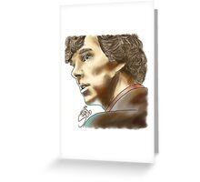Sherlock Sketch With Colours Greeting Card