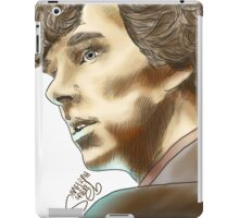 Sherlock Sketch With Colours iPad Case/Skin