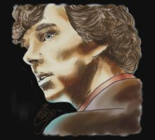 Sherlock Sketch With Colours Kids Clothes