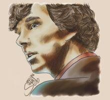 Sherlock Sketch With Colours T-Shirt