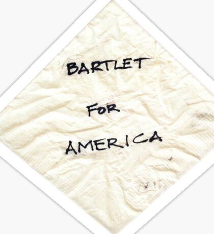 Bartlet for American Napkin Sticker