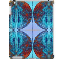 Vibrant Sphere with unique and eye catching ink pattern in blue and copper colors - Tiled iPad Case/Skin