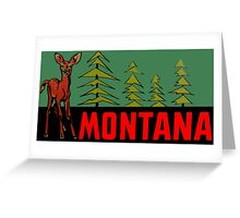 Montana MT State Vintage Travel Decal Greeting Card